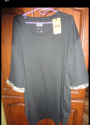 Удлиненная футболка/туника/платье большого размера