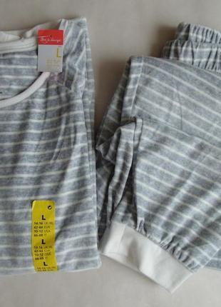 Пижама домашний костюм велюр primark л, 14-16