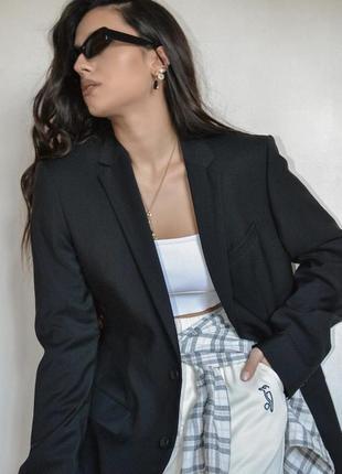 Базовый чёрный пиджак/жакет от next