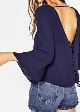 Шикарная блузка со шнуровкой на спинке/блуза/кофточка/топ