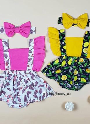 Нарядный боди-платье для девочки бант