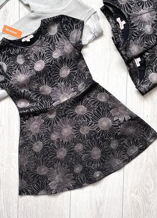 Распродажа! летнее черное трикотажное платье для девочки bluezoo англия