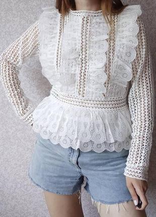 Красивая ажурная блуза кофта