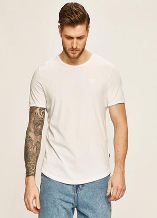 Белая базовая бесшовная футболка joop