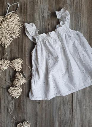 Блуза белая нарядная прошва f&f 6-7л