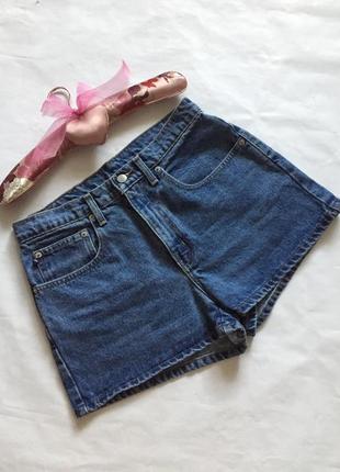 Шорты мом mom джинс деним джинсовые синие 10\38\м