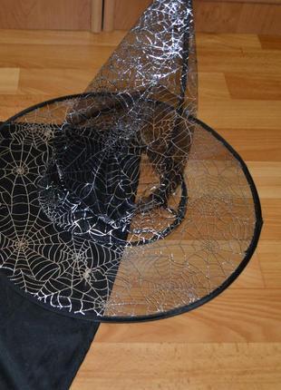 Шляпа ведьмы, колпак, хэллоуин, хеловин, хеллоуин, хеллоуин, паутинка