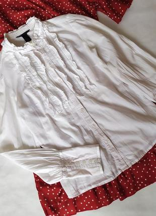 Белая рубашка, блуза mango