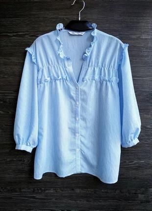 Воздушная блуза свободного кроя zara.