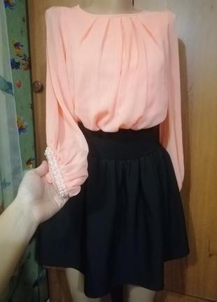 Юбка блузка блуза школьная форма