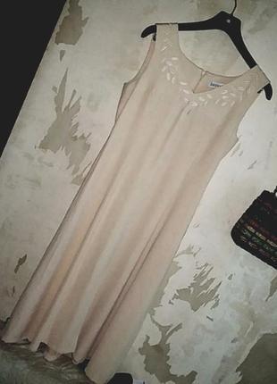 Платье с вышивкой винтаж jacques vert