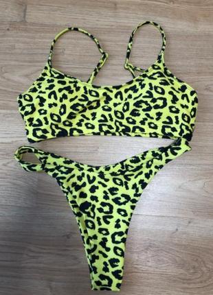 Купальник жёлтый леопард