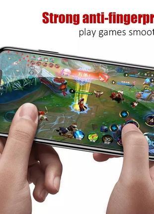 Защитное стекло на айфон 11 затемнённое защита экрана от подглядывания6 фото