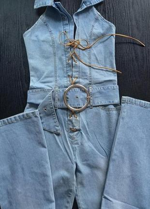 Комбинезон джинсовый женский р. l