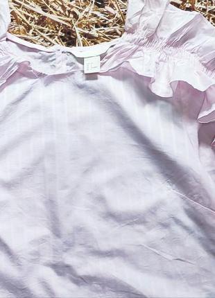Новая хлопковая блуза h&m.3 фото