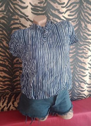 Футболка блуза ткань жатка