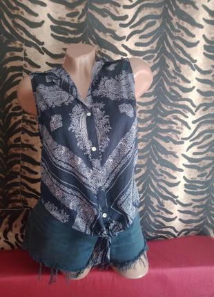 Рубашка майка с узлом