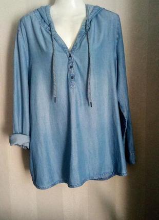 Шикарный блузон с капюшоном лиоцелл германия