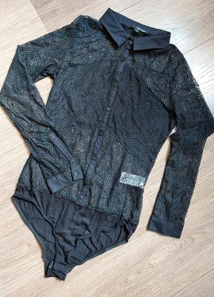 Фирменный боди блуза