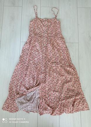 Сарафан в цветочный принт, платье