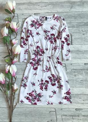 Нежное цветочное платье h&m
