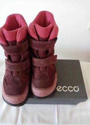 Сапоги ботинки зимние тёплые ecco gore-tex 31р