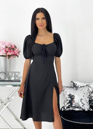 Платье женское нарядное летнее легкое миди длинное свободное черное