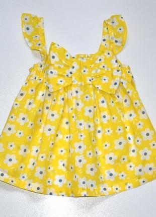 Sweet millie летняя хлопковая блуза-топ в цветы и с бантом. 3 года.