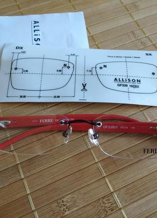 Распродажа новая фирменная безободковая оправа под линзы, очки gf.ferre gf33901