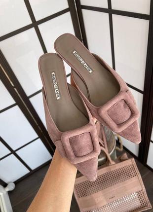 Туфли тапочки женские в стиле manolo blahnik