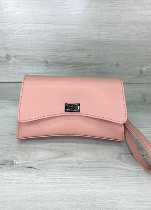 Розовая сумочка на пояс маленькая кросс-боди через плечо нагрудная сумочка клатч