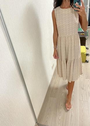 Ярусное платье миди с биркой новое