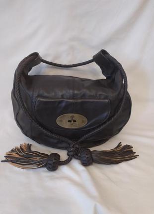 Шикарная сумка mulberry натуральная кожа