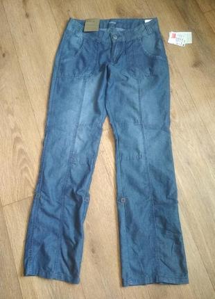 Лёгкие, тонкие джинсы, брюки denim 1982, р. w29/l32, замеры на фото!