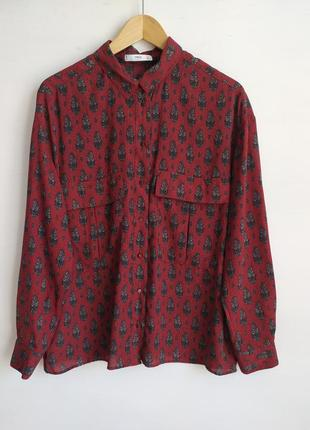Бордовая блузка от mng