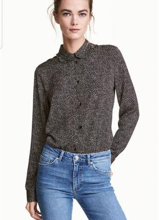 Блуза / рубашка h&m  в мелкий горох