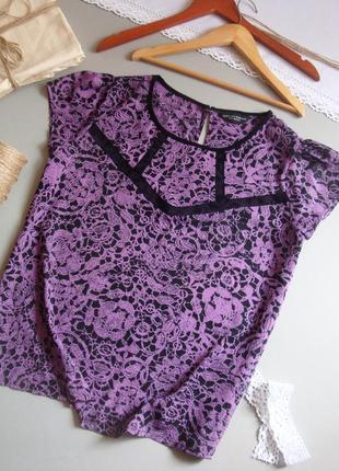 Невесомая блуза сиреневая