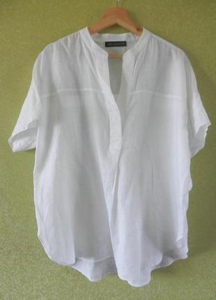 Льняная блуза оверсайз