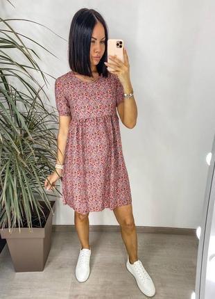 Платье женское нарядное летнее легкое мини короткое свободное белое розовое