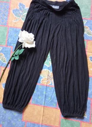 Чорні віскозні штани-султанки 36-38р.індія