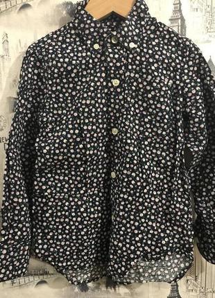 Рубашка блузка цветочный принт gap next h&m zara