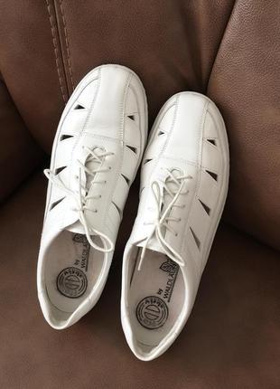 Кожаные туфли мокасины нат.кожа мягкие