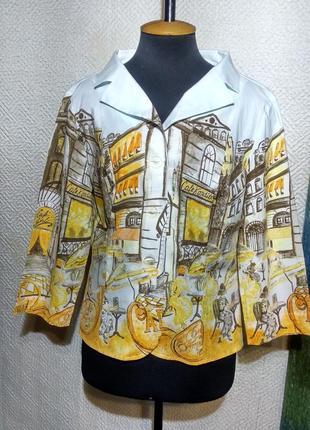 Винтажный пиджак хлопковый