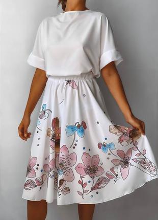 Новинка♥️ костюм юбка+ футболка