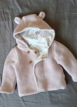 Теплая кофта/ свитер m&s