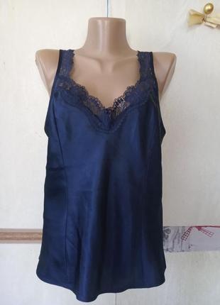 Атласная короткая рубашка неглиже 12-40