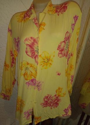 Блуза длинный рукав тюльпан вискоза винтаж