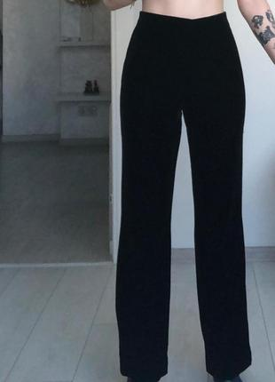 Бархатные широкие  джинсы штаны брюки трубы mom palazzo широкие на высокой талии