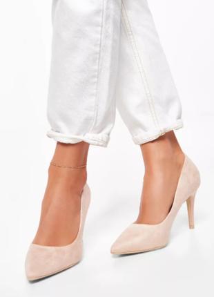 Бежевые туфли на каблуке stella шпильки deeze