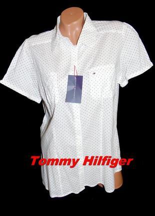 Tommy hilfiger шикарная брендовая рубашка в горошек - xl - xxl